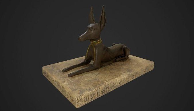 Anubis jackal statue