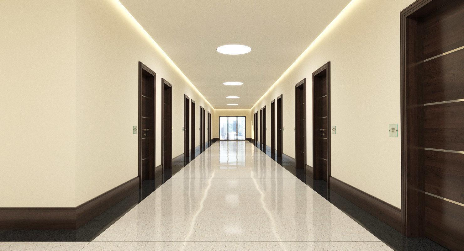 Hotel Hallway 001