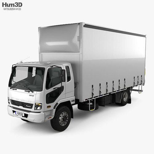 Mitsubishi Fuso Fighter Curtainsider 10 Pallet Truck 2017