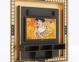 3d model vismara home cinema entertainment center