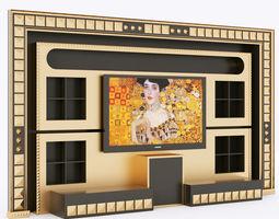 3d model vismara wall piramid entertainment center