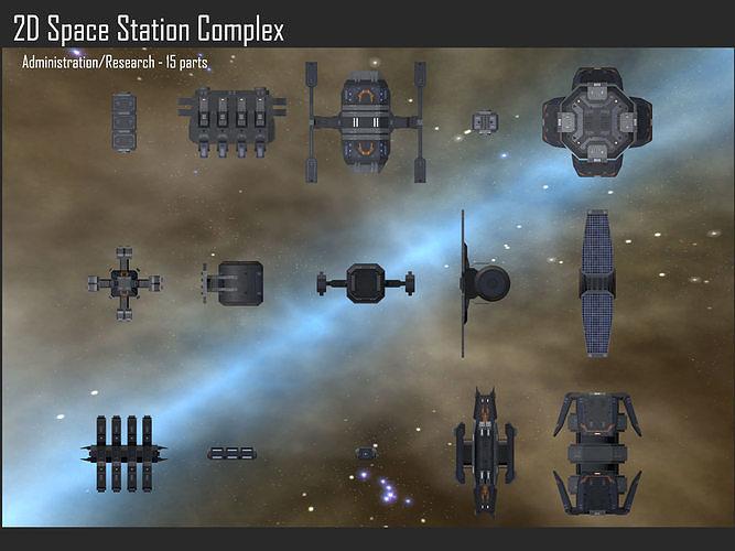 2D Space Station Complex