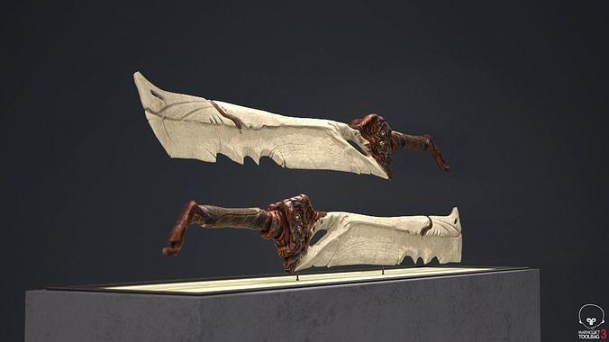 Bone Sword - Game Ready