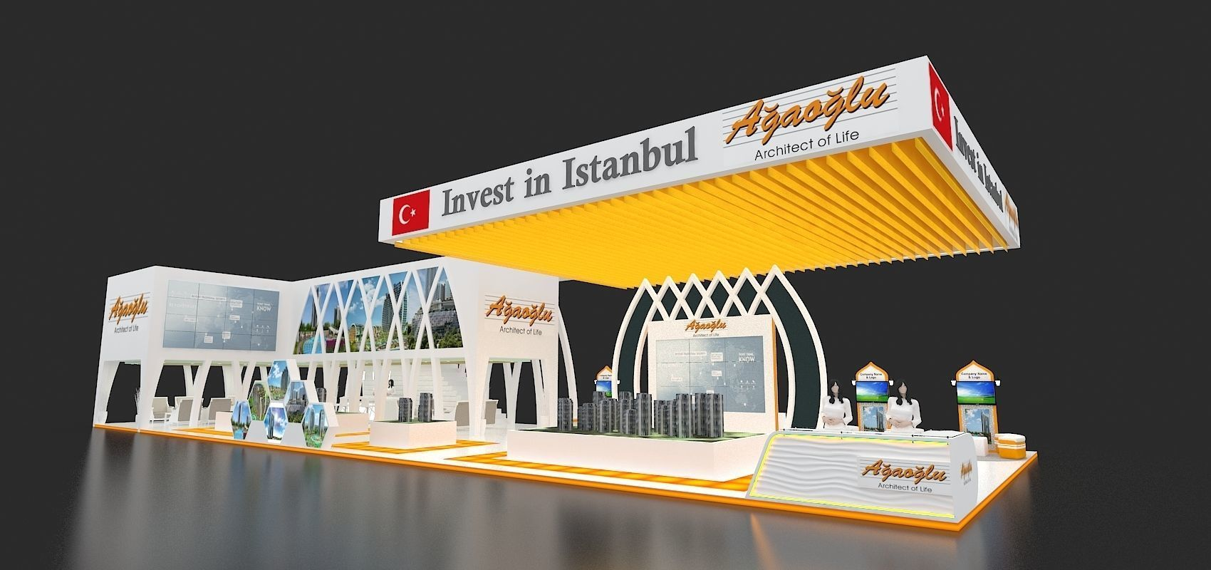 Exhibition Stand Or Booth : Exhibition stand booth sqm d model cgtrader