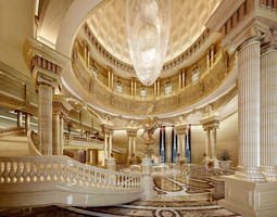 3D model Luxurious museum stairs