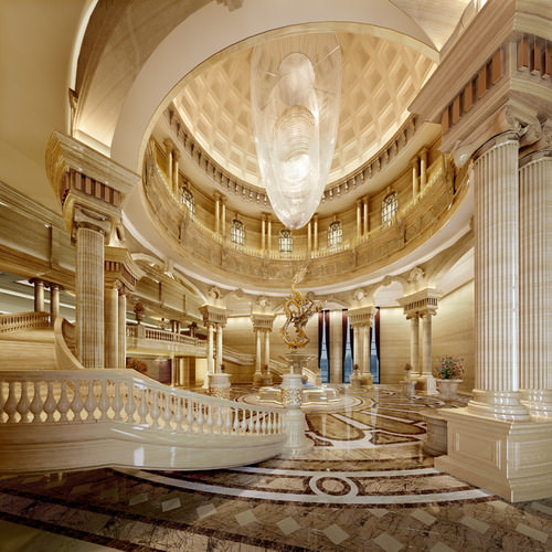 3d Model Luxurious Museum Stairs Cgtrader