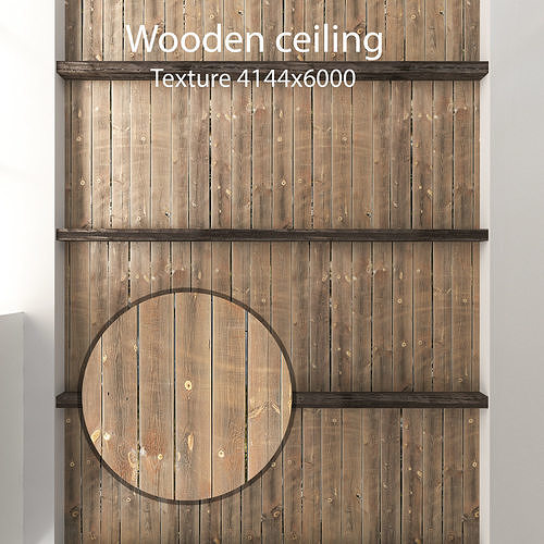 Wooden ceiling with beams 3