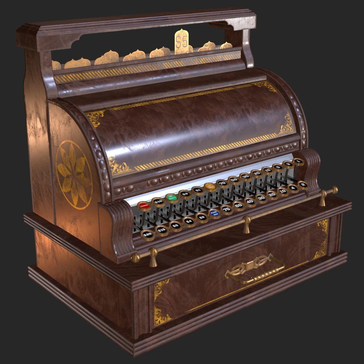 Old Antique Cash Register PBR