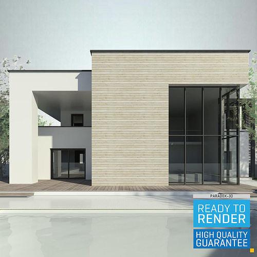 Modern House 3 - Revit 3D