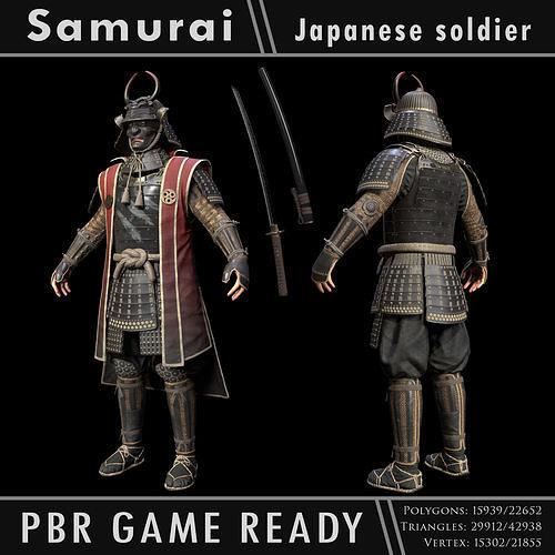 Samurai Character PBR Game ready