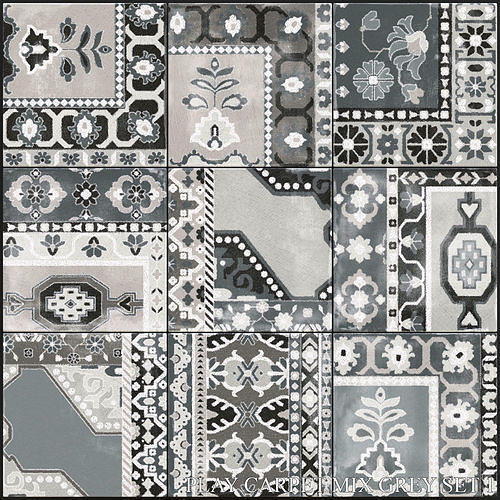 ABK Play Carpet Mix Grey Set 1