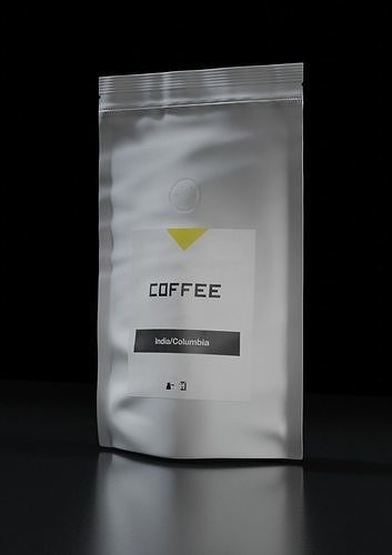 Coffee bag pack with filter valve Small package with label