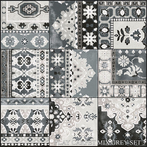 ABK Play Carpet Mix Grey Set 3