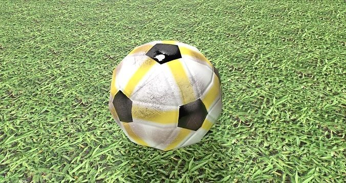 Soccer Ball PBR Low-Poly