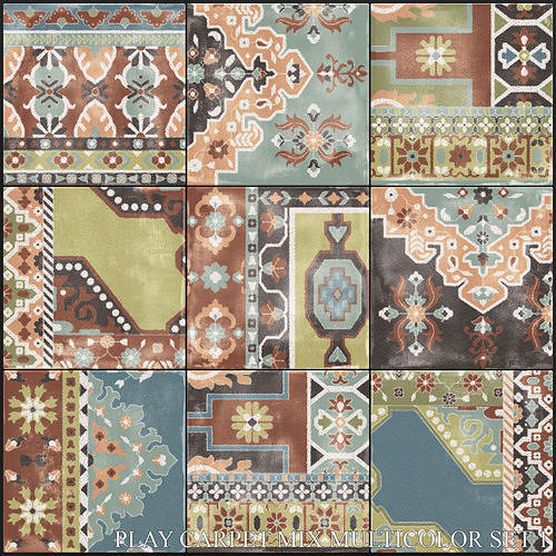 ABK Play Carpet Mix Multicolor Set 1