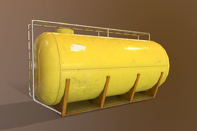 Cistern Realistic - Low Poly - Game ready Low-poly 3D model
