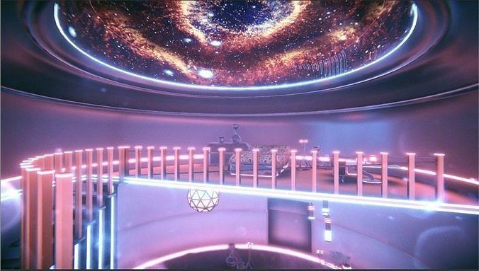Sci-fi Neon Room
