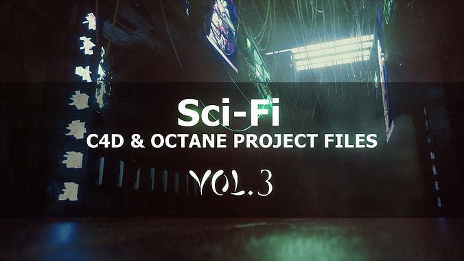 Sci-Fi - C4D Octane Project Files - VOL3