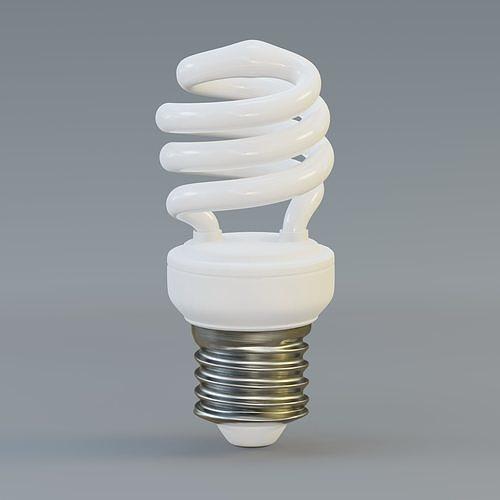 Spiral fluorescent bulb