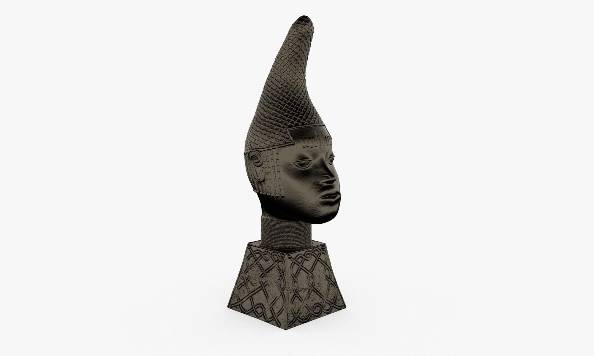 Queen Iyoba Head Sculpture