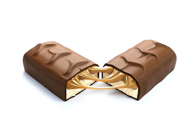 Snickers chocolate broken