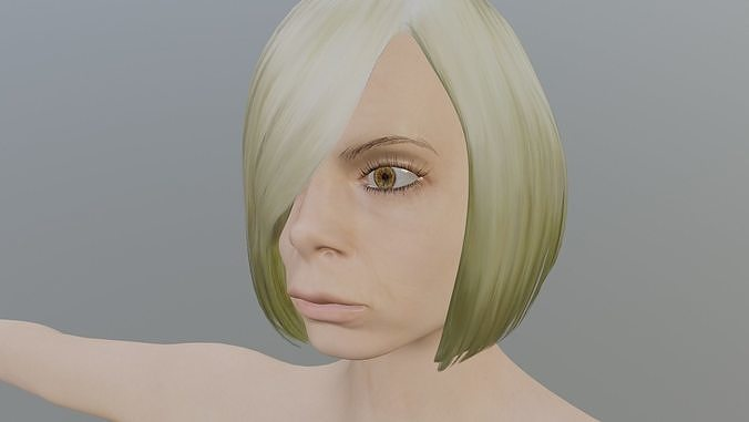 Nude Girl - Textured female model