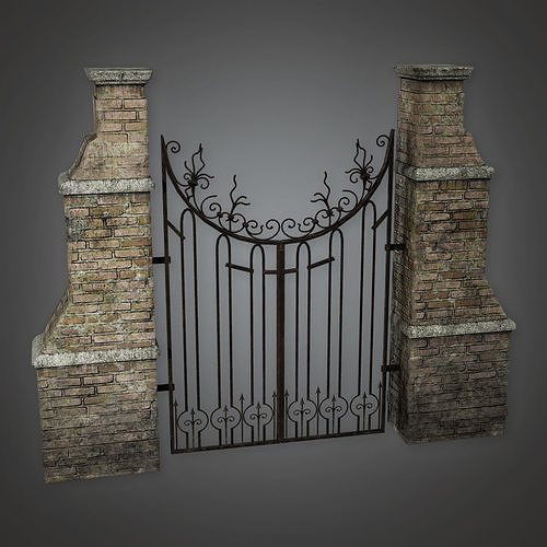 GFS - Outdoor Gate 01 - PBR Game Ready