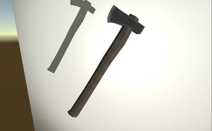 Simple lumber axe model