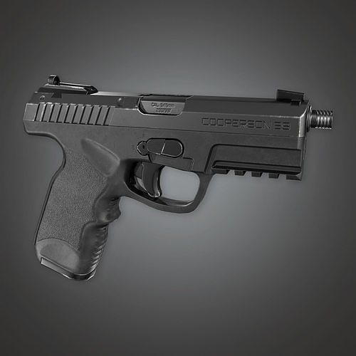 MHG - Cooperson B9 Modern Handgun - PBR Game Ready