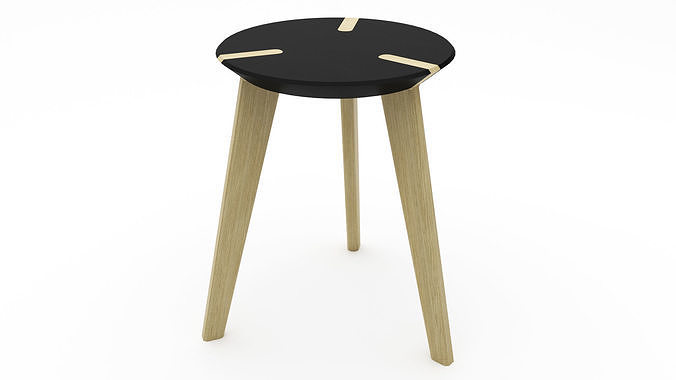 Wooden Stool - 3ds Max