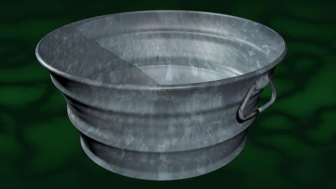 3d model number 3 tub wash basin