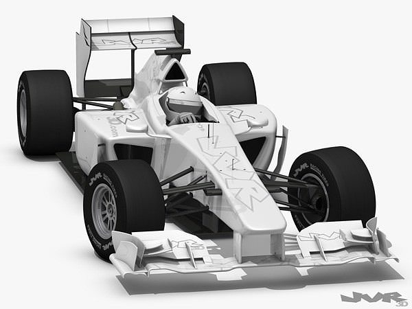 generic f1 2012 race car 3d model max obj mtl 3ds fbx pdf 1