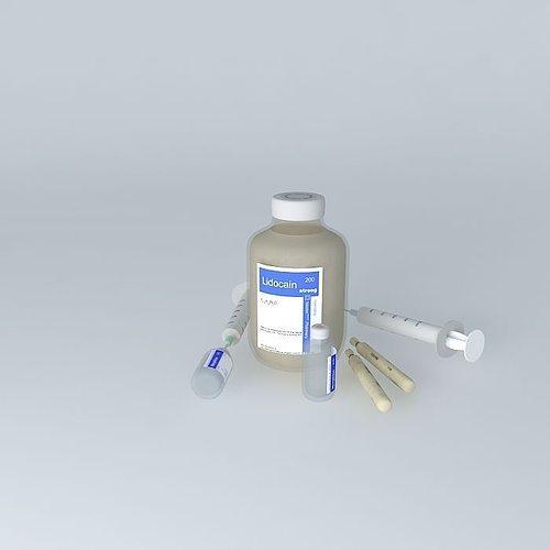 syringe 3d model max obj 3ds fbx stl skp 1
