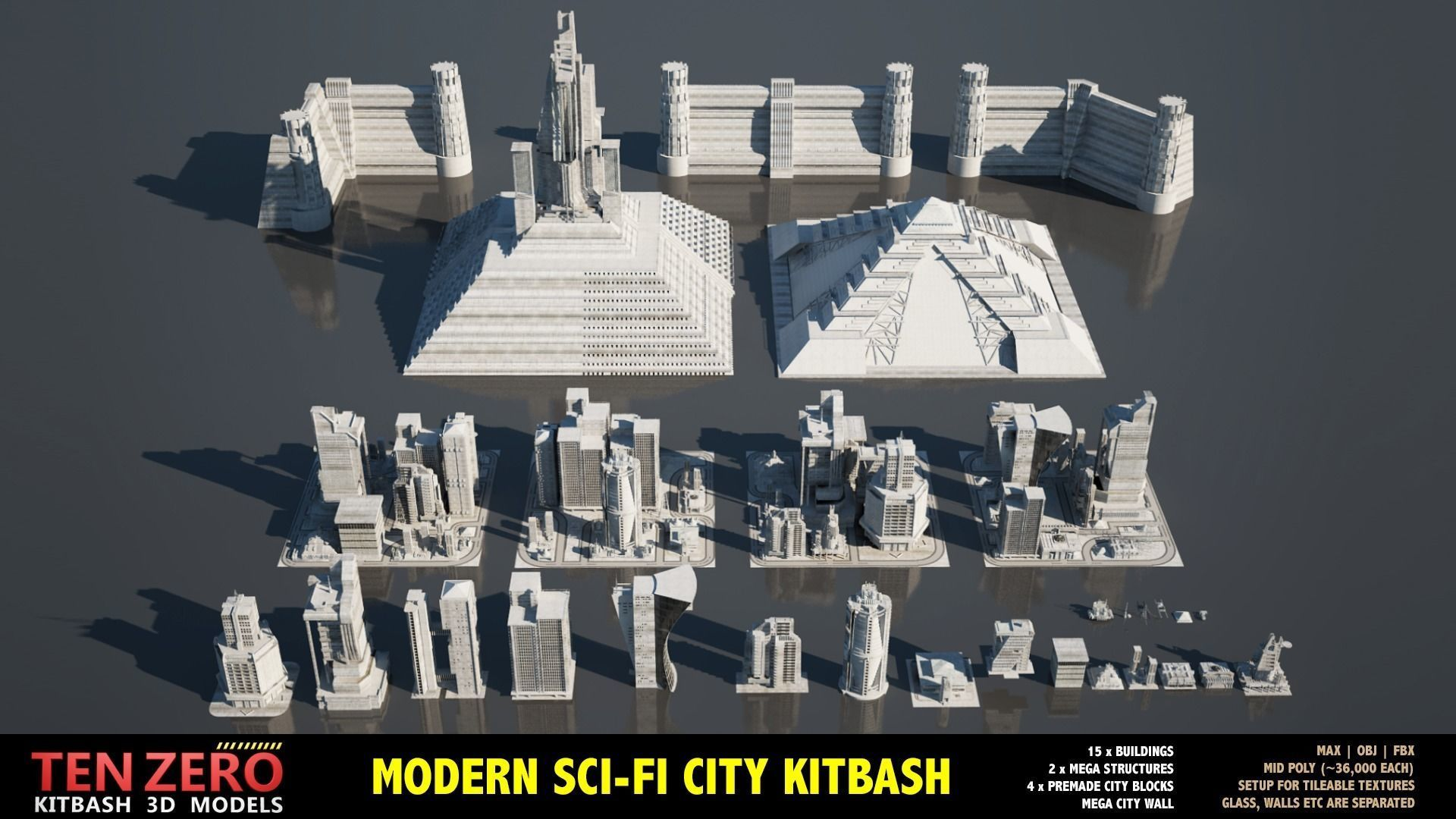 MEGA SCI-FI BUILDINGS KITBASH