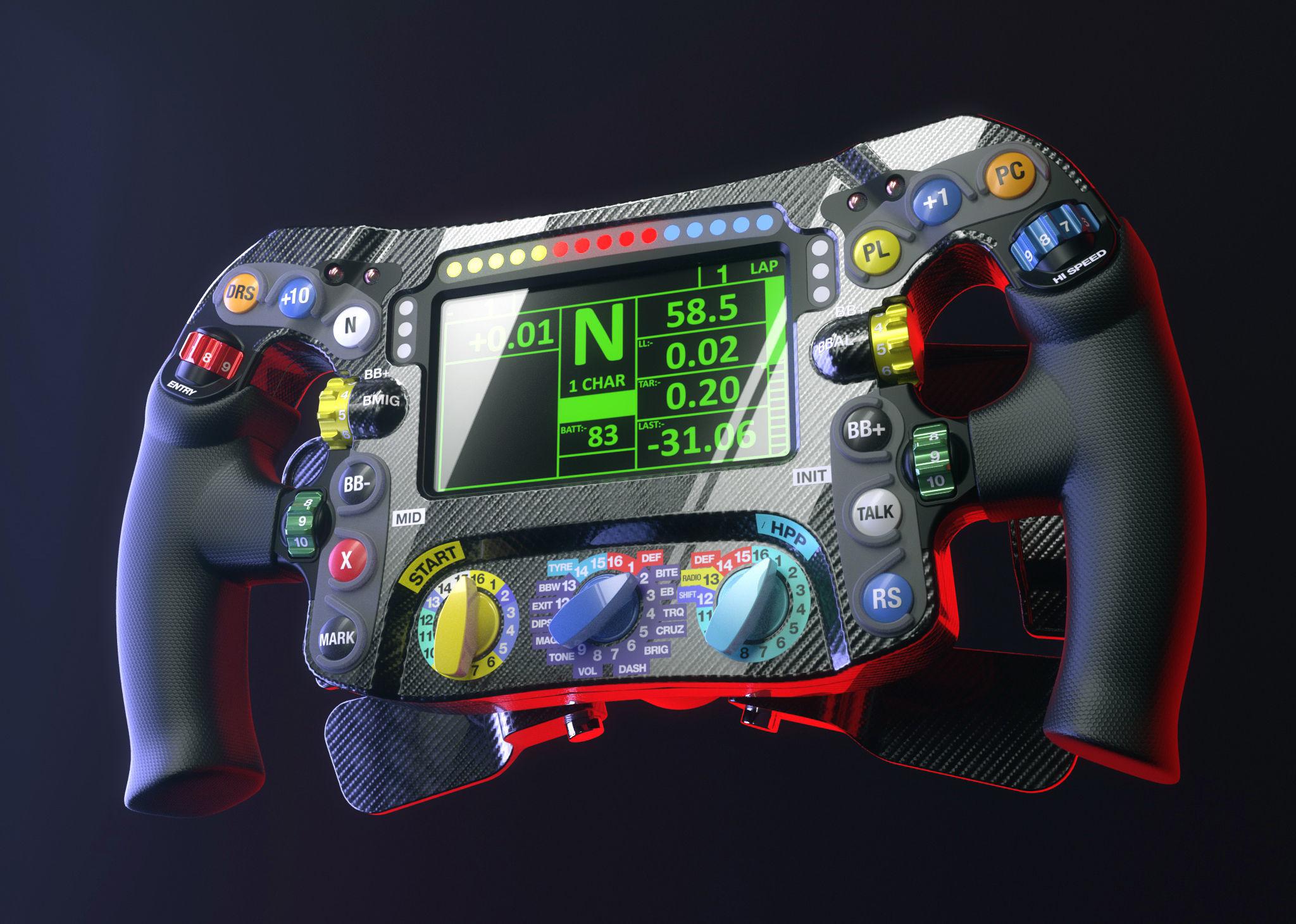 Mercedes W07 F1 steering wheel 3D | CGTrader