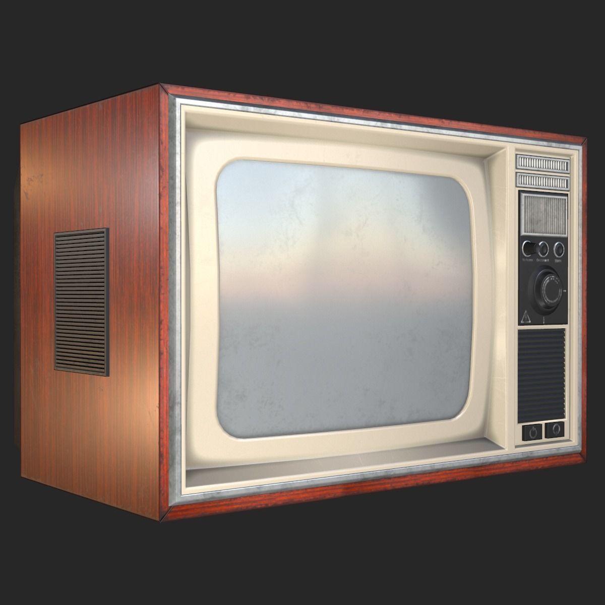 Retro Television 1980s PBR   3D model