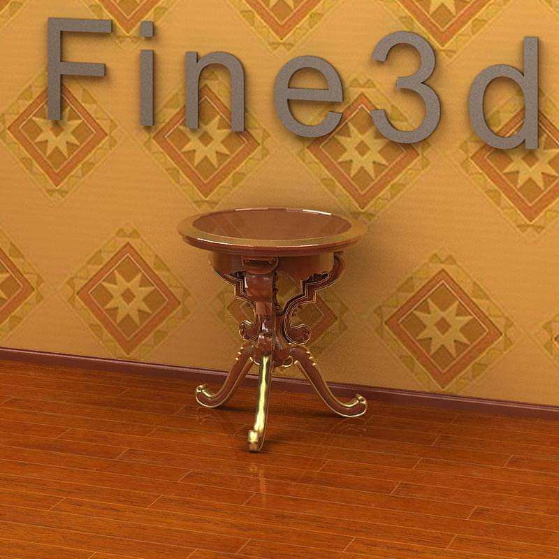 Living room table collection 3d model max obj 3ds for Spl table 98 99