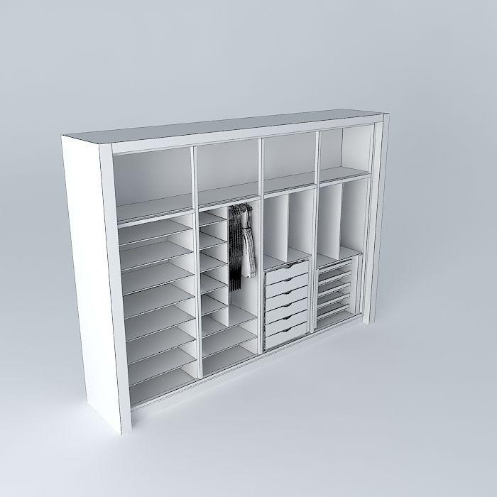 Wardrobe free 3d model max obj 3ds fbx stl dae for 3d wardrobe planner