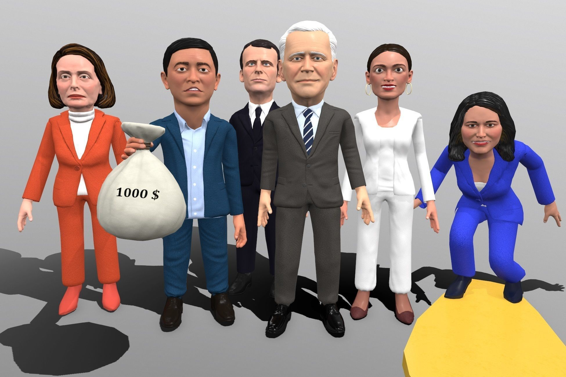 Political caricatures pack 4
