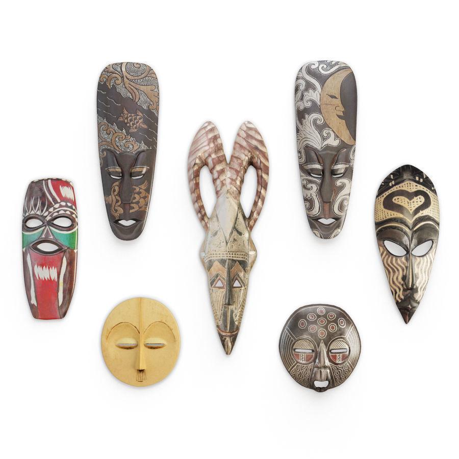 Wooden African Masks Sculpture