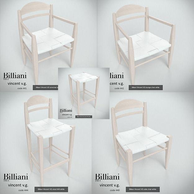 5 model pack - Billiani Vincent VG white leather