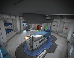 3D model Spaceship Interior HD 3