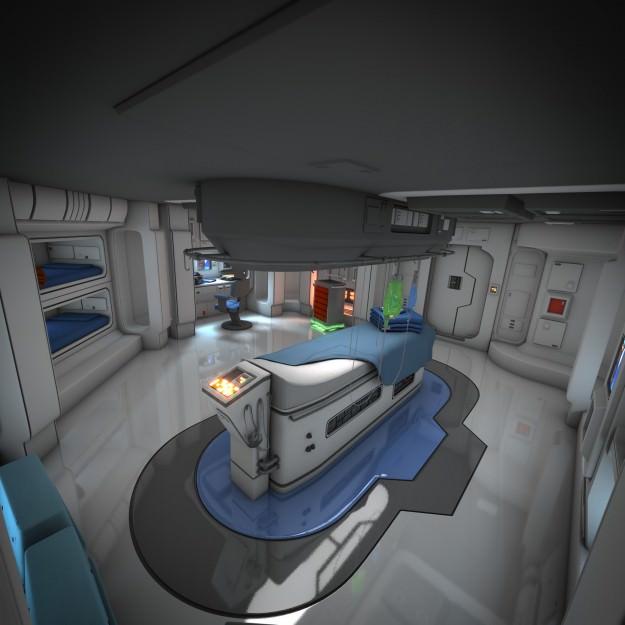 Spaceship Interior HD 3 3D Model OBJ FBX LWO LW LWS BLEND