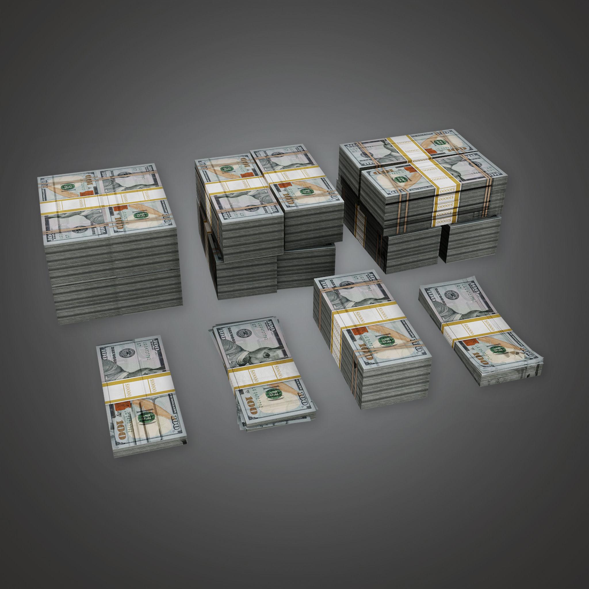BHE - Cash Money Pile  - PBR Game Ready