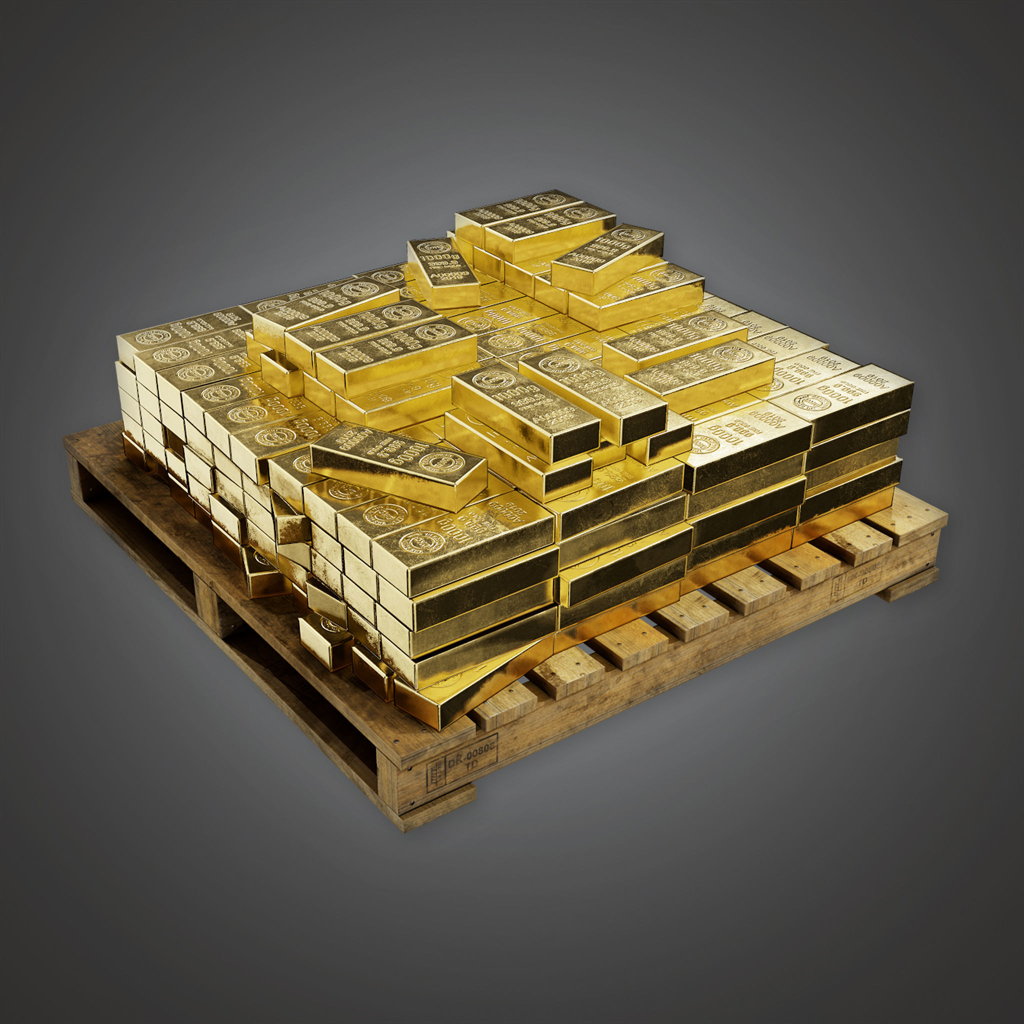 BHE - Bank Gold Stack - PBR Game Ready