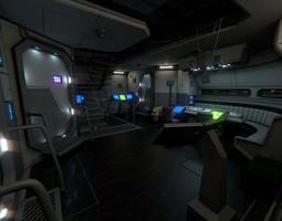 spacecraft interior b hd 2 3d model