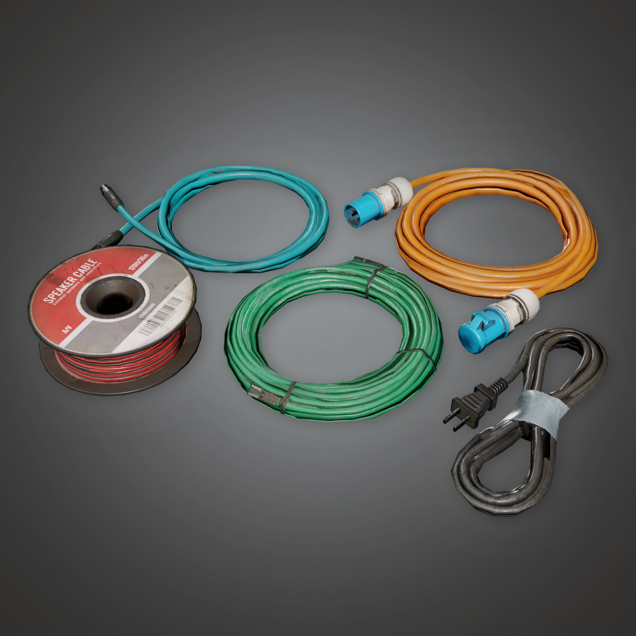 HLW - Cables Set 02 - PBR Game Ready