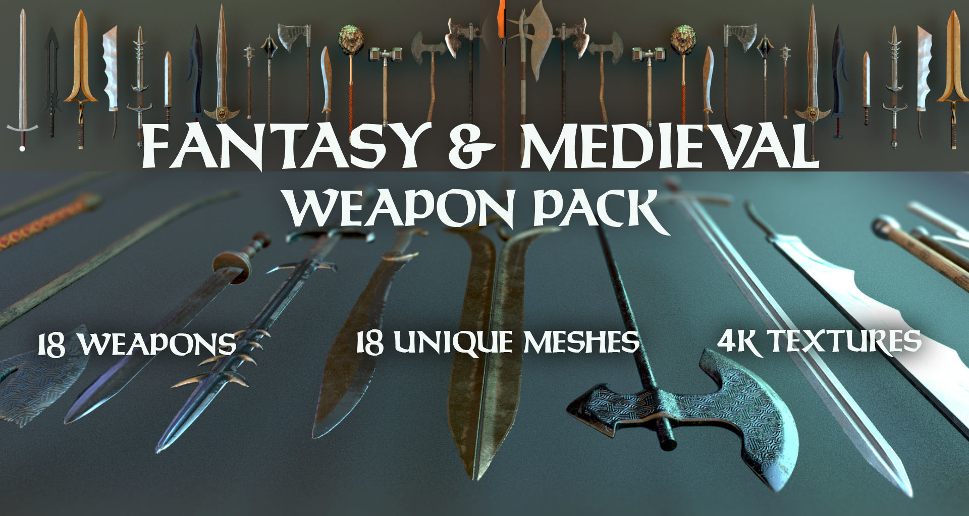 Fantasy and Medieval Weapon Pack