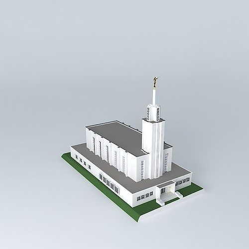 lds. temple mormon,bern switzerland ,9th. operating temple. 3d model max obj 3ds fbx stl dae 1