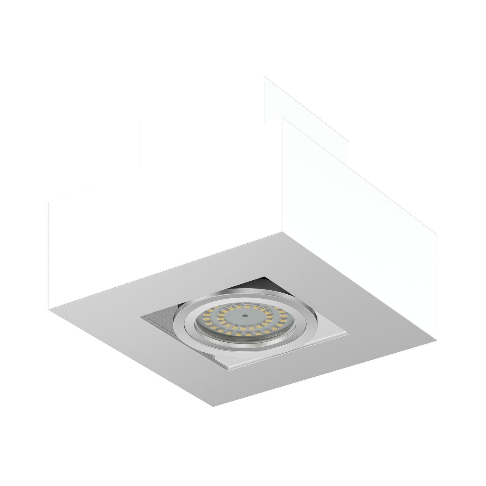 Rectangular Halogen Light 3D Model